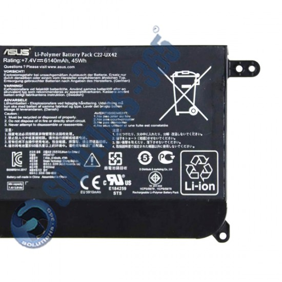 LAPTOP BATTERY FOR  ASUS  C22-UX42