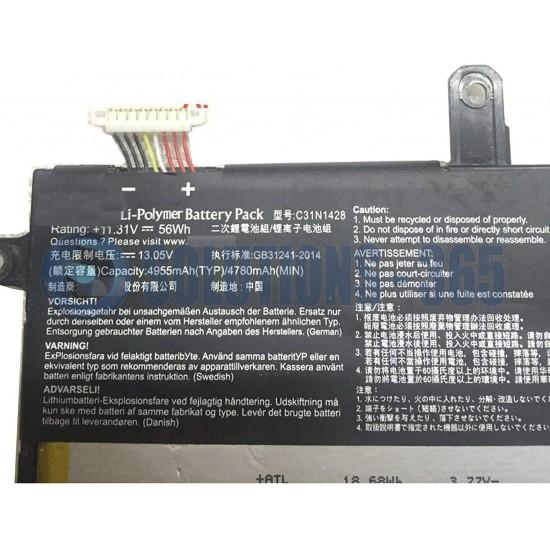 LAPTOP BATTERY FOR  ASUS C31N1428 UX305UA