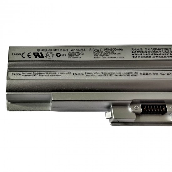 Buy SONY Laptop Battery BPS13 Silver Compatible online